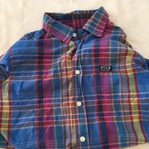 Ralph Lauren Multicolor Plaid  LS Button Up Shirt